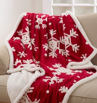 It's Christmas Time Snowflake Throw