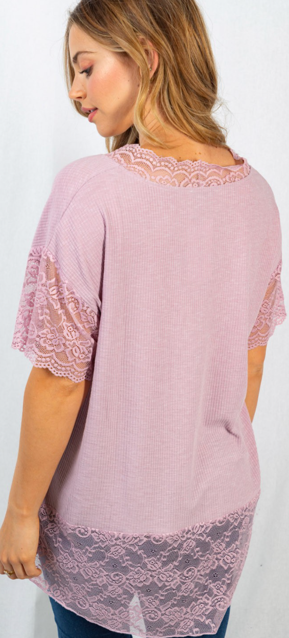 Get Laced Up Top - 2 Colors!