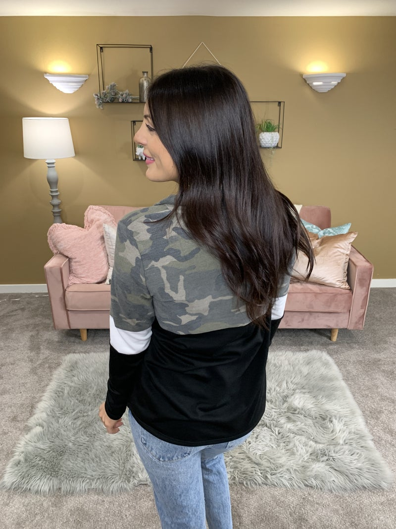 Stronger With You Camo Long Sleeve