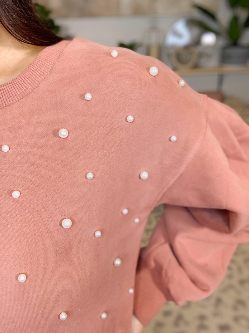 Wearing Her Pearls Sweater!
