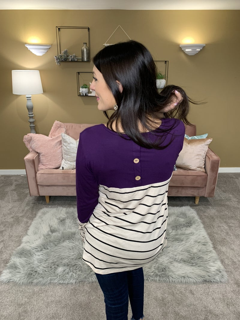 Chic and Simple Top - Eggplant