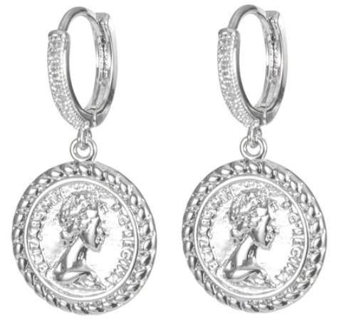 Melania Clara Francine Earrings - Silver