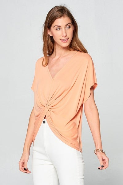 CREAMSICLE TWIST FRONT TOP