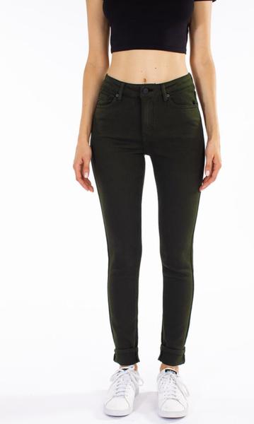 KanCan High Rise Green Skinny Jeans