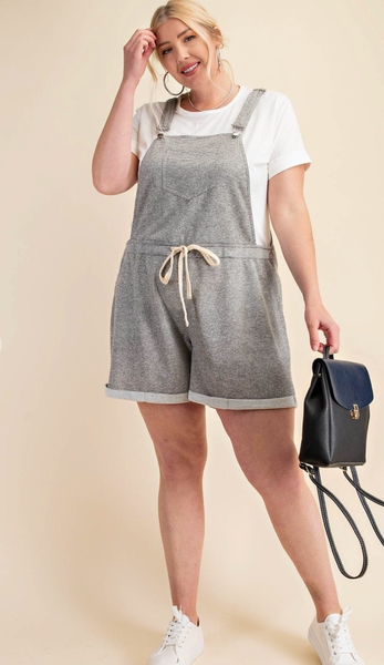 Terry Cute Overall Shorts