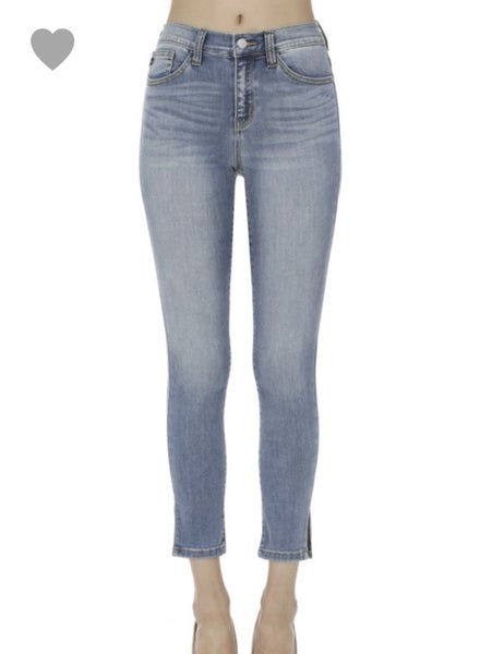 JUDY BLUE DENIM W SIDE SLIT