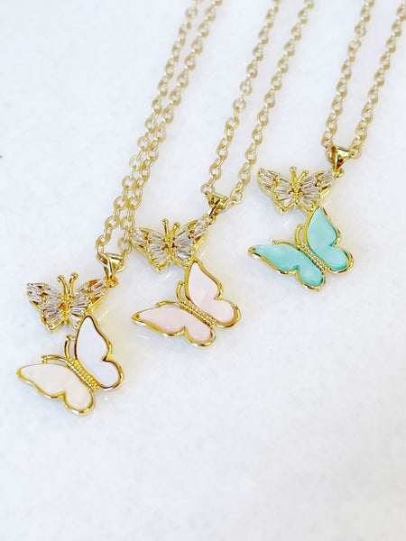 Two Is Better Than One Butterfly Necklace