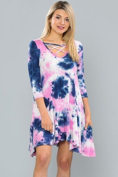 Dreamscape Tie Dye Criss Cross Dress