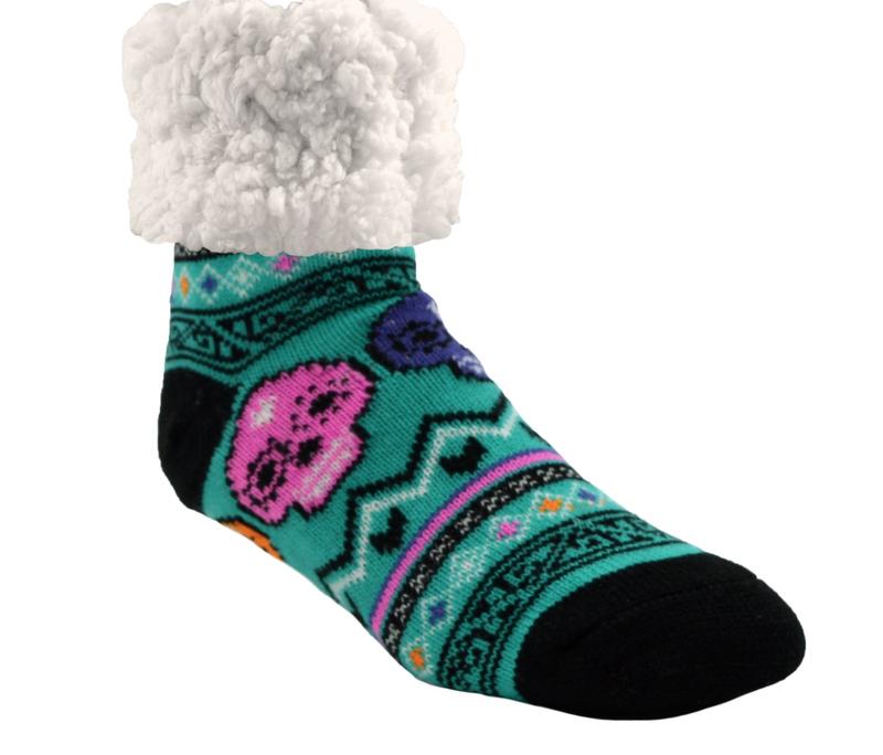 Pudu Skull Slipper Socks