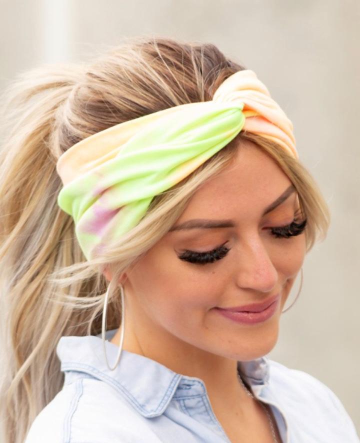 Tie Dye Twist Headwraps - 5 Colors!