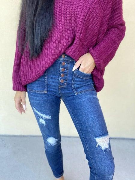 Judy Blue Maverick High Rise Skinny Jeans