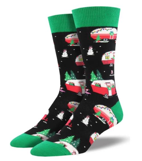 Christmas Campers Socks - Men's