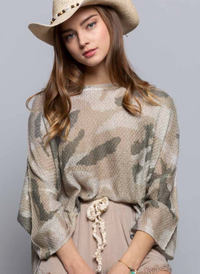 Make Way For Camo Top- 2 Colors!