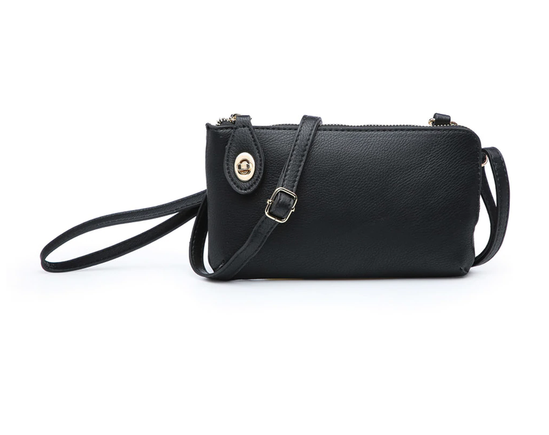 Kendall Solid Crossbody Wristlet - 5 Colors!