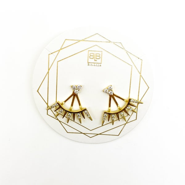 BB Lila Spider Leg Earrings - Gold
