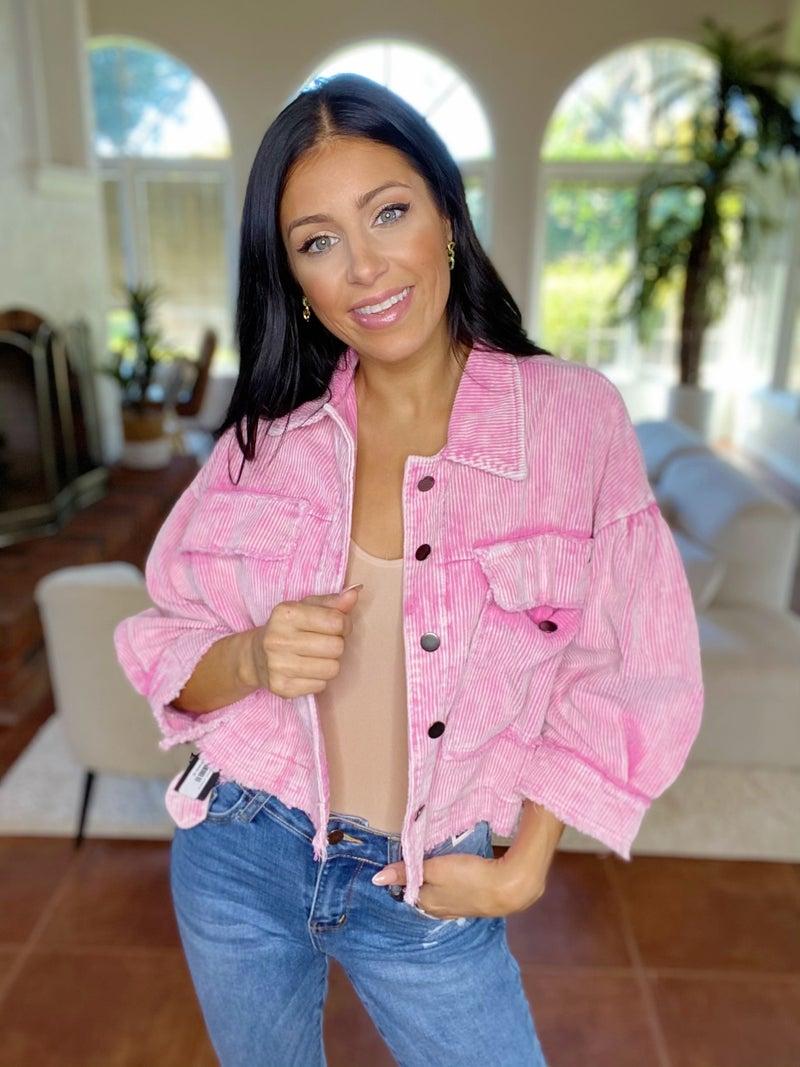 Little Fray Lotta Love Denim Jacket - 2 Colors!