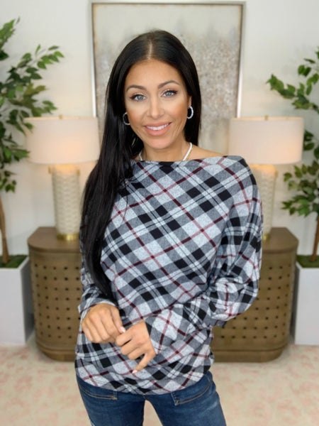 Plaid Is A Vibe Top - 2 Colors!