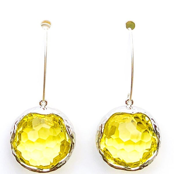 Jonquil/Silver Shine Bright Drop Gem Earrings