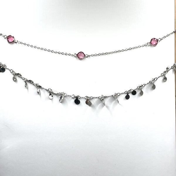 By Alexa Rae x Melania Clara Destiny Anklet Set Silver - Pink
