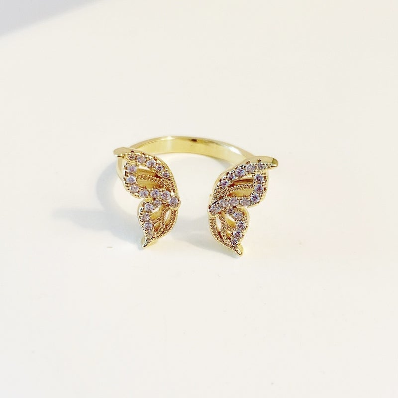 The Nora Adjustable Butterfly Ring