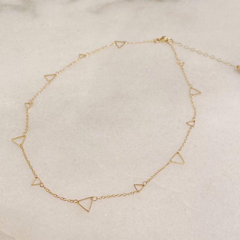 Love Poppy Triangle Necklace