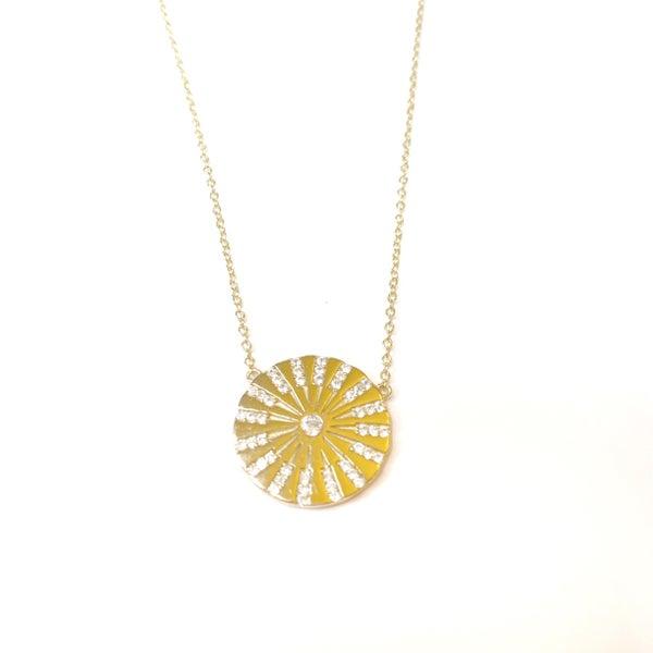 Hespera White Sapphire Star Necklace