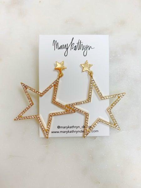 Mary Kathryn Gold Star Earrings