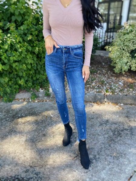 Risen Bar Babe High Rise Skinny Jeans
