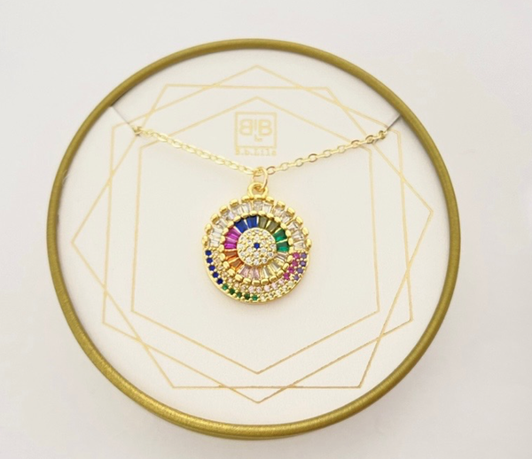 BB Lila Colorful Machine Necklace