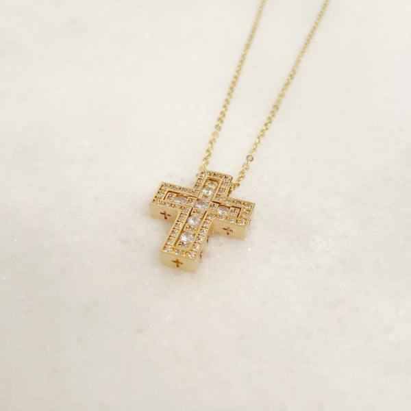 Set In Cross Necklace