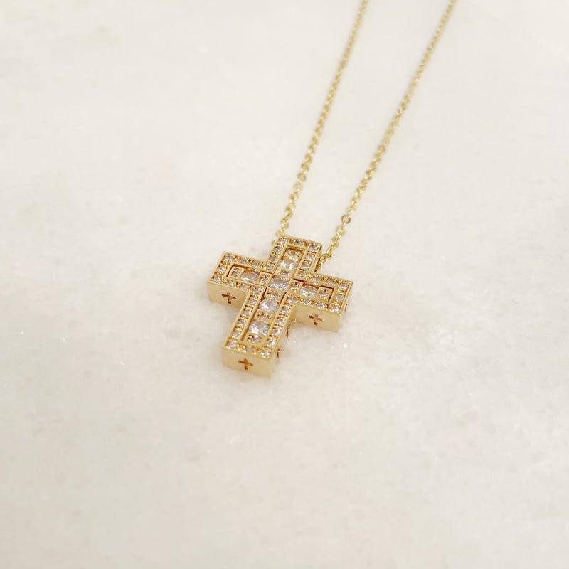 Set In Cross Necklace