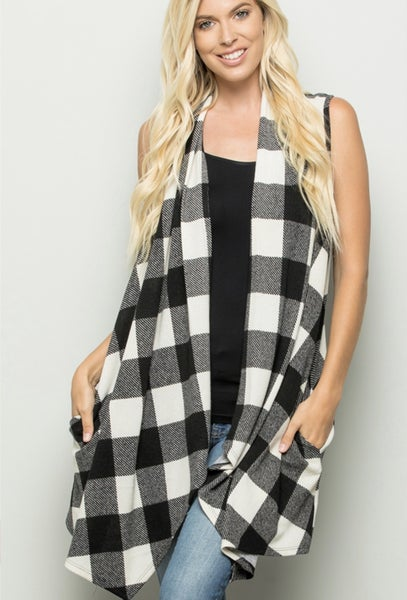 Fall Is In The Air Plaid Vest