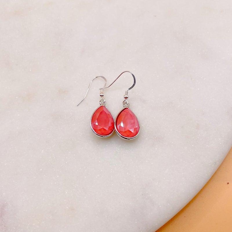 Love Poppy Swarovski Teardrop Earring - Silver