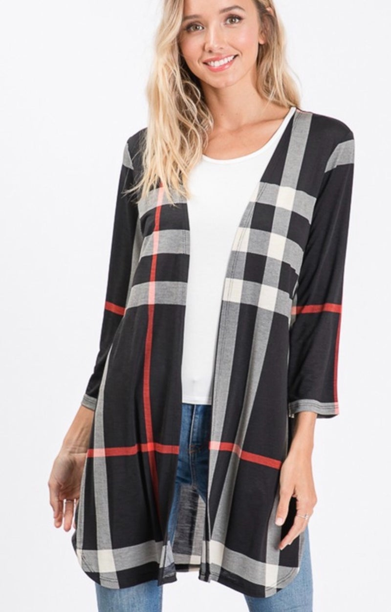 She's The One Plaid Cardigan