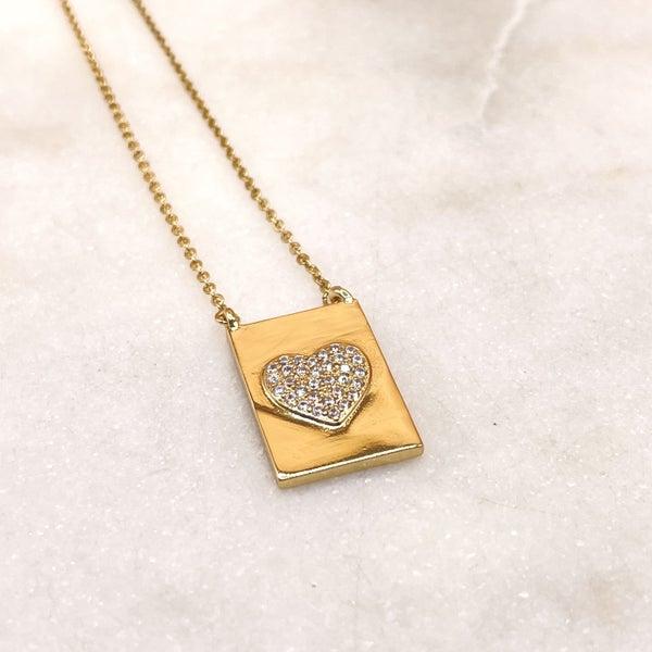 Melania Clara Faith Necklace - Heart