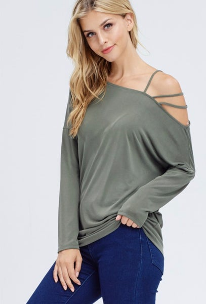 Live Free Top - Olive