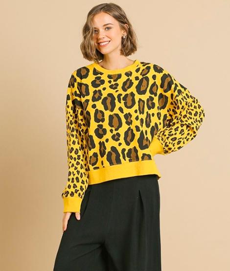 Carmen Leopard Pullover