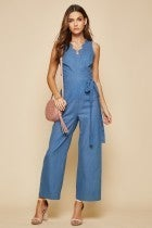 Dime Piece Denim Jumpsuit