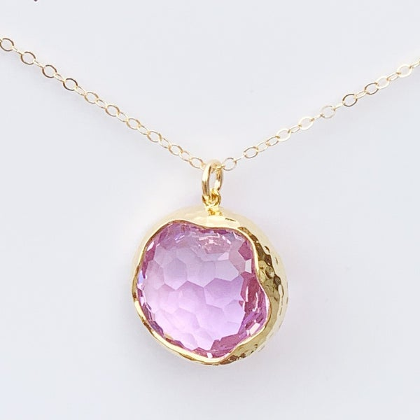 Lavender Shine Bright Gem Necklace