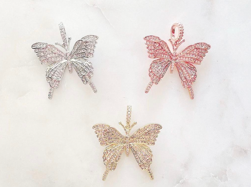 By Alexa Rae Monarch Butterfly Charm - 3 Colors!