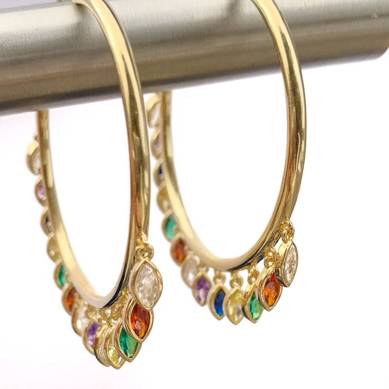 *PRE-ORDER* Hespera Teardrop Hoop Earrings - Silver or Gold