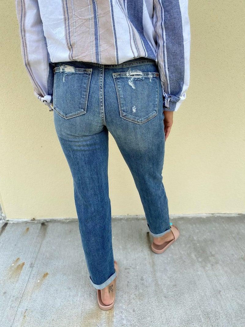 Judy Blue Destroyed Boyfriend Jeans