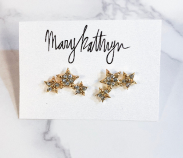 Mary Kathryn Triple Star Studs