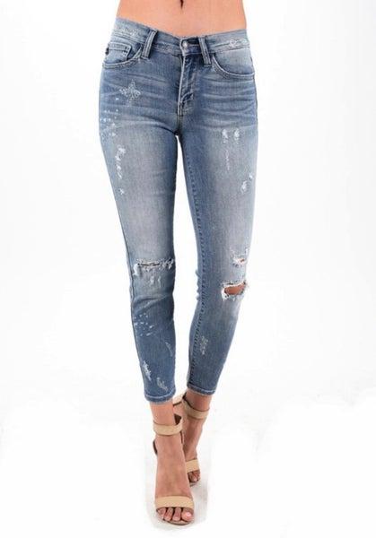 Judy Blue Bleach Splash Skinny Jeans