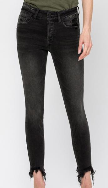 Vervet By Flying Monkey Black Tides Mid Rise Skinny Jeans