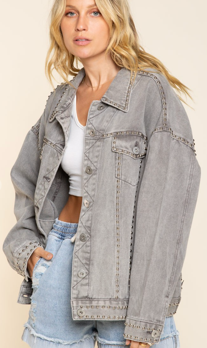 Better With Studs Denim Jacket - 4 Colors!