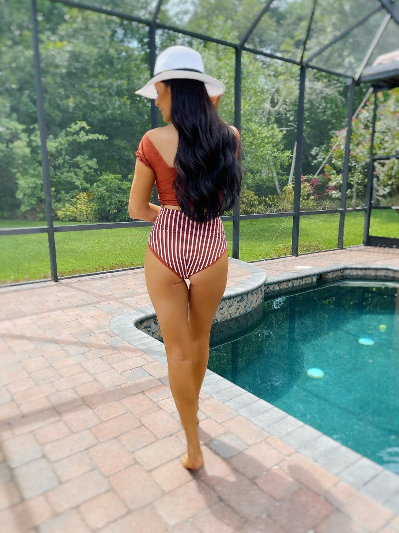 My Kind Of Surprise Reversible Bottoms - Sienna Stripe