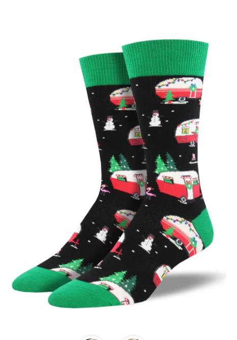 Christmas Campers Socks - Women's