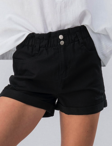 BLACK BETTY PAPER BAG WAIST SHORTS