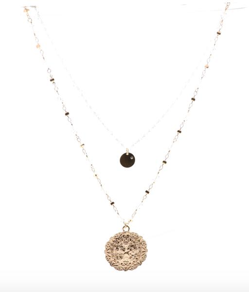 BB Lila Crystal Palace Necklace